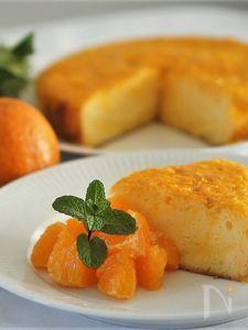 たんかんでオレンジケーキ(ストウブ鍋で)