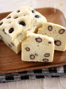 黒豆×ラム酒♪米粉のパウンドケーキ