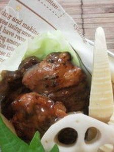 お弁当に〜牛バラ肉の醤油糀赤ワイン漬け照り焼き〜