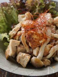 高野豆腐とぶなしめじのココナッツ味噌炒め