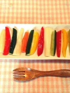 さっぱりだけど和風。カラフル野菜のパプリカ。