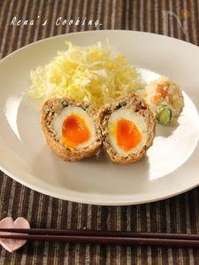 半熟卵入りメンチカツ