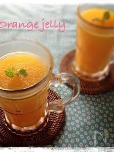 ぷるぷるオレンジゼリー
