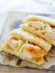 フライパンで簡単パンの照焼きチキンサンド
