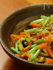 【節約】蕪の葉と油揚げの炒め煮
