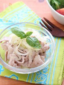 豚しゃぶと玉ねぎのサラダ