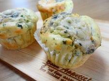 パセリとゴルゴンゾーラチーズのマフィン