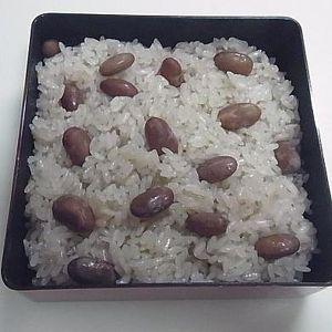 金時豆のおこわ
