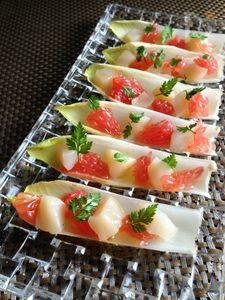 ホタテとピンクグレープフルーツのサラダ