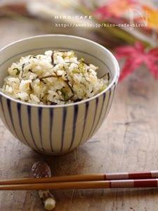 蕪の菜っぱで簡単混ぜご飯☆