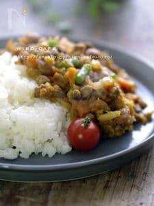 大豆と挽肉のドライカレー☆