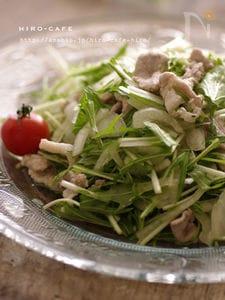 豚と水菜の柚子胡椒サラダ☆