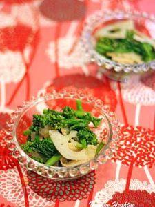 菜の花とレンコンのごまサラダ