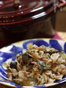 茄子と舞茸のストウブ蒸し煮