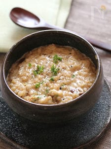 玄米ご飯で☆ポルチーニの玄米クリームリゾット