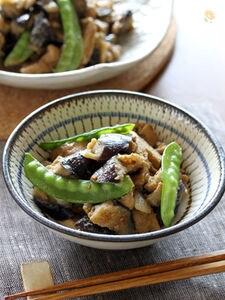 茄子と豚肉と油揚げの練り胡麻煮