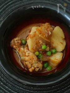 トルコ風鶏肉とじゃがいもの煮込み
