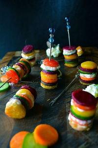野菜とチーズのカラフルピンチョス