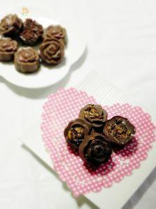 薔薇の生チョコ(グラノーラ&クッキークランチ)