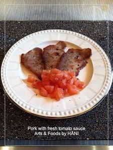 豚薄切り肉とトマトソースのイタリアン前菜レシピ