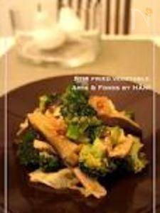 豚肉 茄子 ブロッコリーのうま味噌中華野菜炒め