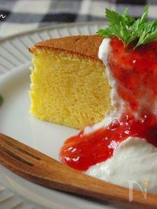 スライスチーズで、本格!!スフレチーズケーキ