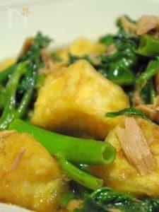 ツウサイと豆腐の揚げだし風