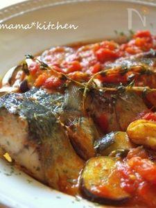 サバと完熟トマトの煮込み