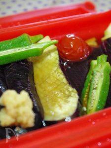 揚げずに!レンジで夏野菜の揚げ浸し