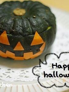 ハロウィンに♪ぼっちゃんかぼちゃのマヨチーズ焼き