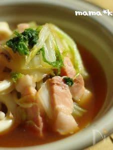 <白菜4日目>白菜とイカの旨煮