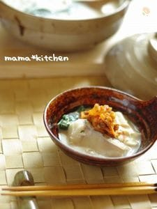 タラの豆乳味噌鍋〜キムチをお好みで♪