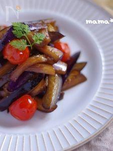 茄子とプチトマトのバルサミコ炒め