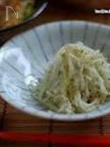 大根と大葉の胡麻酢和え