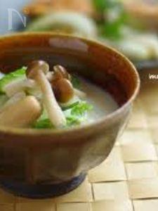 白菜ときのこの豆乳ポトフ