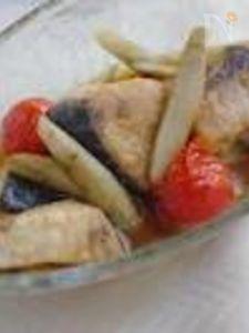 ブリとプチトマトの焼き浸し
