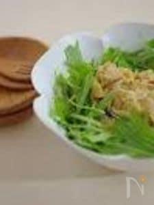 白菜と水菜のゴマだれサラダ