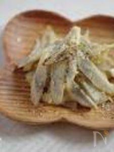 牛蒡の塩チーズ金平