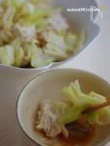 ざく切りキャベツと鶏挽肉の重ね煮