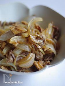 牛肉とお揚げさんのすき焼き風煮