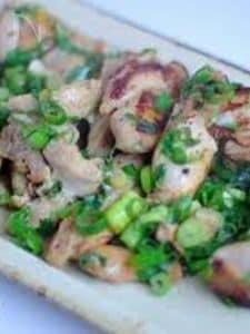 塩麹漬け鶏の葱焼き