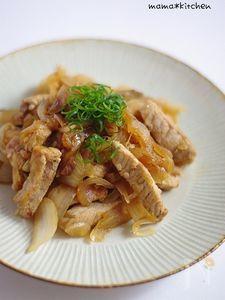豚肉と飴色タマネギの塩麹炒め