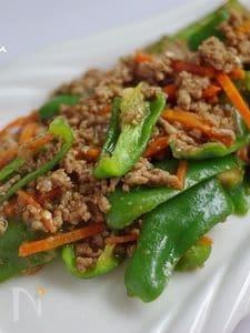 ピーマンの肉味噌炒め【自家製麺つゆレシピ】