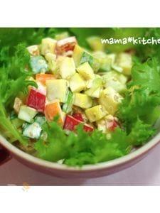 かぼっコリーのカラフルクリーミーサラダ