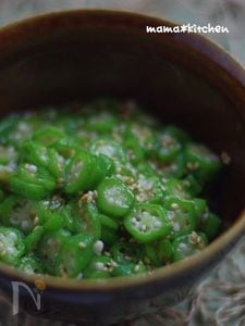 オクラの胡麻酢