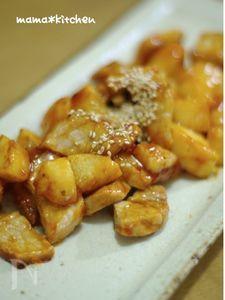 豚肉と長芋の甘辛サイコロステーキ