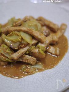 豚肉と白菜のクリーミー胡麻味噌炒め