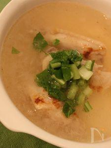 めざせぷりぷりお肌♪鶏手羽とかぶのすり流しスープ