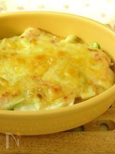【白菜4日目】白菜とお餅のアツアツとろ〜りグラタン