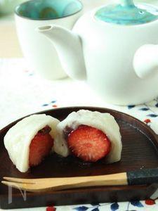 切り餅de簡単♪いちご大福